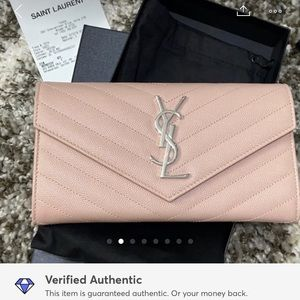 YSL wallet pink - NEW